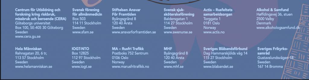 Samtök sem standa að ritröðinni: Áfengi og samfélag